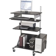 Balt 42551 Alekto Compact Sit & Stand Workstation, Gray