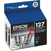 Epson T127s Black Extra High Yield Ink Cartridge, 2/Pack (T127120-D2)