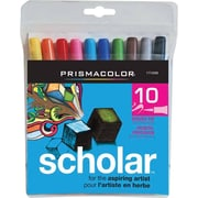 Prismacolor® Scholar Brush Tip Markers, Assorted Colours, 10/Pack