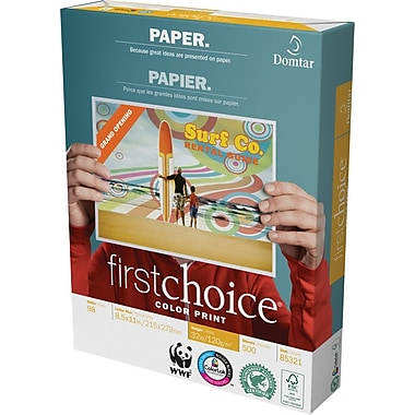 Domtar FSC-Certified FirstChoice ColourPrint Premium Laser Paper, 32 lb., 8-1/2