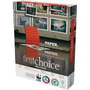 "Weyerhaeuser First Choice Multi-Purpose Paper, LETTER-Size, 98/110+ US/Euro Brightness, 24 Lb., 8 1/2""H x 11""W, 5,000 Sheets/Ct"