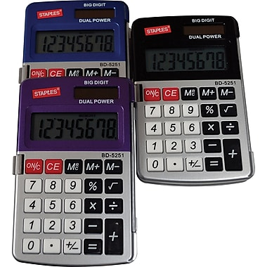 Staples BD-5251 Metallic Pocket-Size Calculator