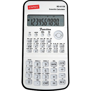 Staples BD-6108 Scientific Handheld Calculator
