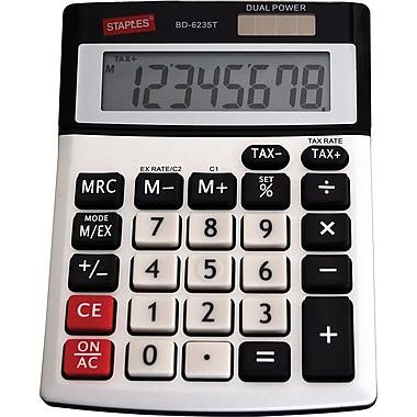 Staples® - Calculatrice taxes à affichage de 8 chiffres