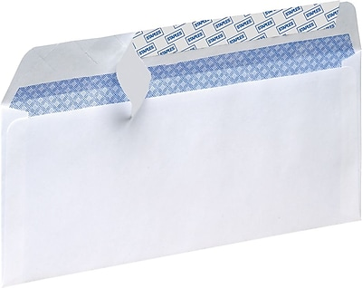 Staples Tear-Resistant Privacy-Tinted #10 Business Envelopes, White (21573)