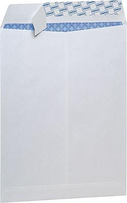 Staples® Tear-Resistant Privacy Tint Catalog Envelopes, 9 x 12, White, 100/Box (329845/21574)