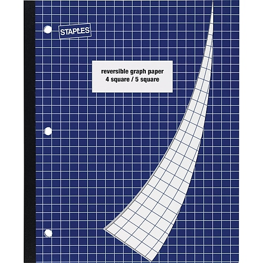 staples 4 square 5 square graph notebook 8 1 2 x 11 staples