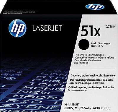 HP 51X Black Toner Cartridge (Q7551X), High Yield