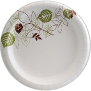"Dixie Pathways 8-1/2"" Heavyweight Paper Plates, 500/Case (SXP9PATH)"