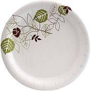 "Dixie Pathways 6 7/8"" Medium-Weight Paper Plates, 125/Pack (UX7WS)"