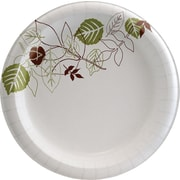 "Dixie Pathways 8 1/2"" Medium-Weight Paper Plates, 500/Case (UX9WS)"