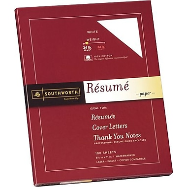 Southworth® Exceptional Resume Paper, 24 lb., 8 1/2