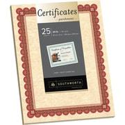 Southworth® 24 lb. Parchment Certificates, Copper/Burgundy
