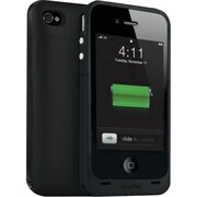 mophie Juice Pack Plus Rechargeable Battery Case for iPhone 4 & 4s, Black