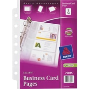 "Avery® 5-1/2"" x 8-1/2"" Business Card Pages"