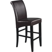"OSP Designs® Metro 30"" Bonded Leather Parsons Bar Stool, Espresso"
