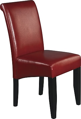 Delicieux OSP Designs® Metro Bonded Leather Parsons Chair; Crimson Red