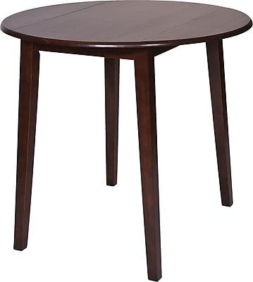 OSP Designs® Westbrook Wooden Pub Round Drop-Leaf Table, Amaretto