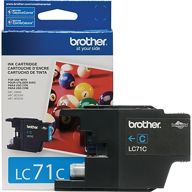 Brother – Cartouche d'encre cyan LC71CS