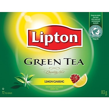 Lipton Green Tea, Lemon Ginseng