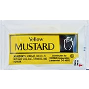 Yellow Mustard Single Serve Packets, 200/Box