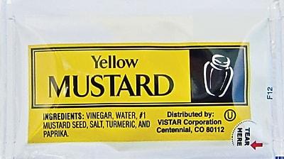 Yellow Mustard Single Serve Packets, 200/Box