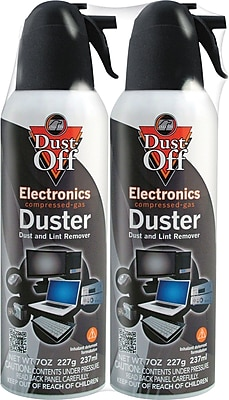 Falcon® Dust-Off® Compressed Gas Duster, 7oz. Spray Can, 2-Pack