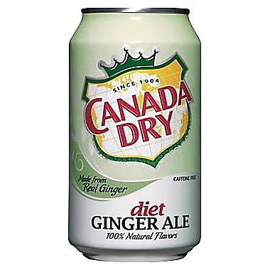 Canada Dry® Diet Ginger Ale, 12 oz. Cans, 24/Pack