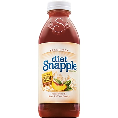 Snapple® Diet Peach Iced Tea, 20 oz. Bottles, 24/Pack