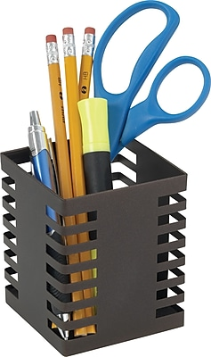 Staples Punched Metal Pencil Cup (21502)
