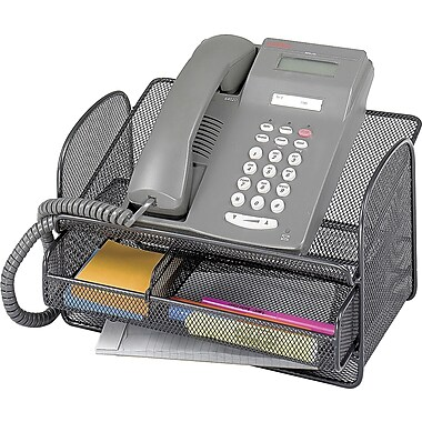 Safco® - Support pour téléphone Onyx en mailles métalliques, noir