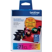 Brother LC71 C/M/Y Color Ink Cartridges, Combo 3/Pack