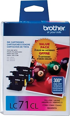 Brother Genuine LC713PKS Cyan, Magenta, Yellow Original Ink Cartridges Multi-pack (3 cart per pack)
