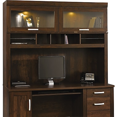 Sauder Office Port Hutch, Dark Alder