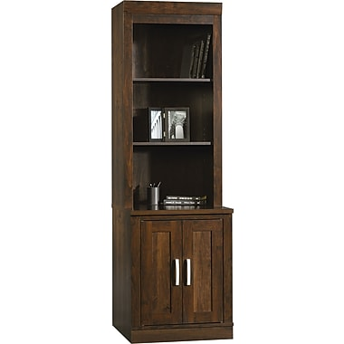 Sauder Office Port Library Hutch, Dark Alder