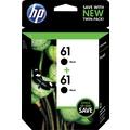 HP 61 Black Ink Cartridges (CZ073FN), Twin Pack