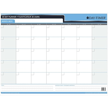 Day-Timer 30/60 Day Reversible Flexible Planner, 23