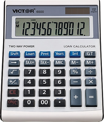 Victor® 6500 Executive Desktop Financial Calculator, With Loan Wizard
