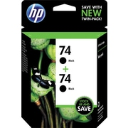 HP 74 Black Ink Cartridge (CZ069FN), Twin Pack