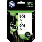 HP 901 Tricolor Ink Cartridge (CZ076FN), Twin Pack