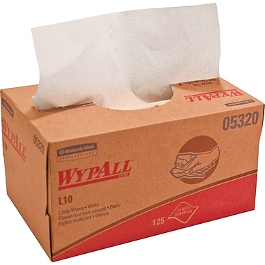 WypAll* L10 Disposable Wipers, 18 Cartons/Case, 125 Wipers/Carton (05320)