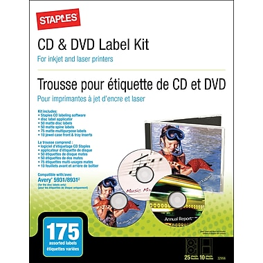 Staples® CD/DVD Media Label Kit