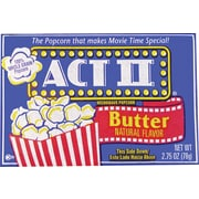 ACT II Microwave Popcorn, Microwavable, Butter Flavor, 2.75 oz. Bags, 36 Bags/Box