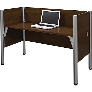 Bestar Pro-Biz Office System Simple Workstation, 3/4 Wall, Chocolate