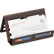 Staples Bronze Metal Business Card Holder