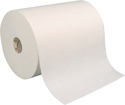Brighton Professional™ Hardwound Paper Towel Rolls, White, 1-Ply, 7.8