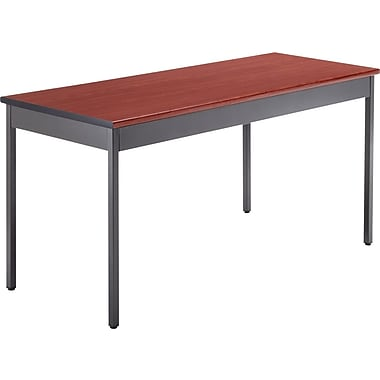 OFM 60''Lx24''D Rectangular Utility Table, Cherry