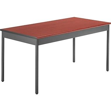OFM 60''Lx30''D Rectangular Utility Table, Cherry