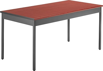 OFM 60''Lx30''D Rectangular Utility Table, Cherry