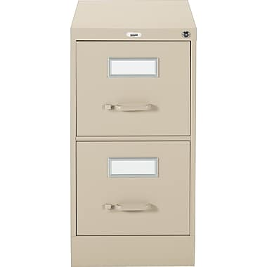 Staples® Vertical Letter File Cabinet, 2-Drawer, Sand